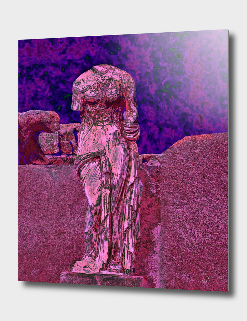 Chrome Goddess Gothic Altered Art