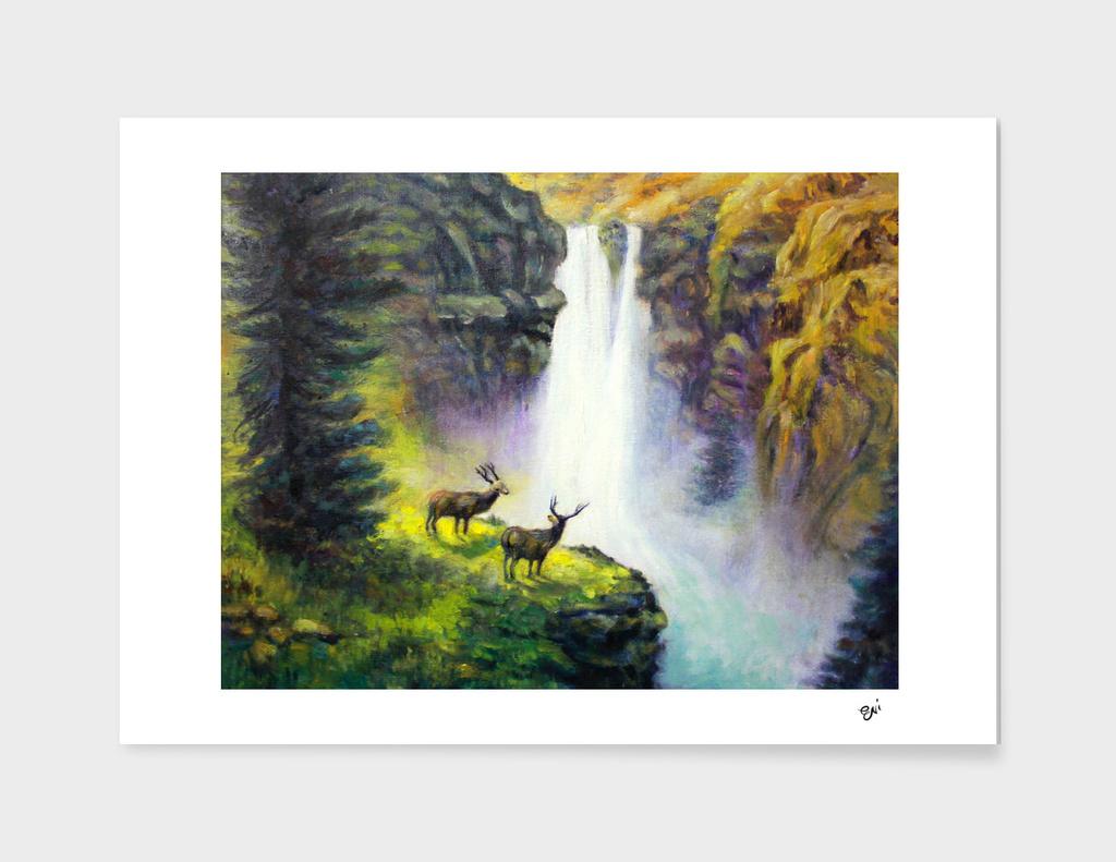 The Waterfall Deer