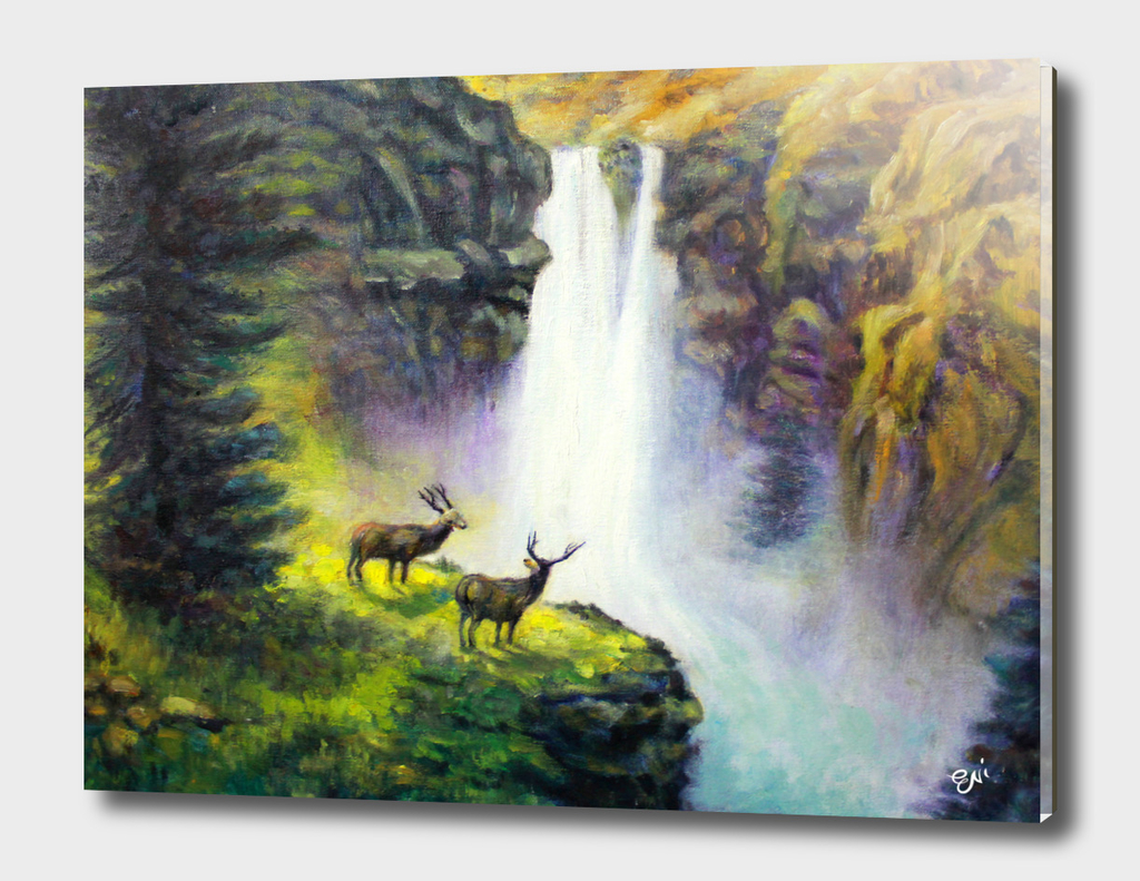 The Waterfall Deer