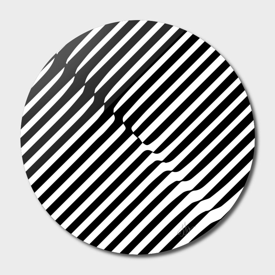 Op-art stripes