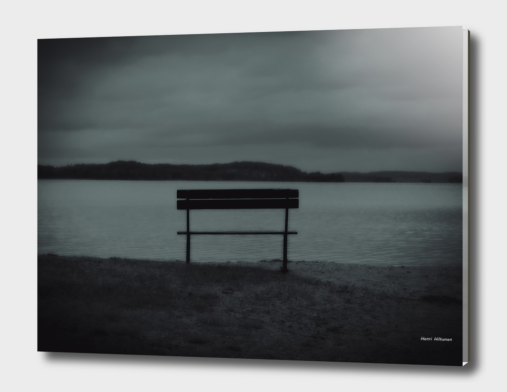 Bench by the lake 2