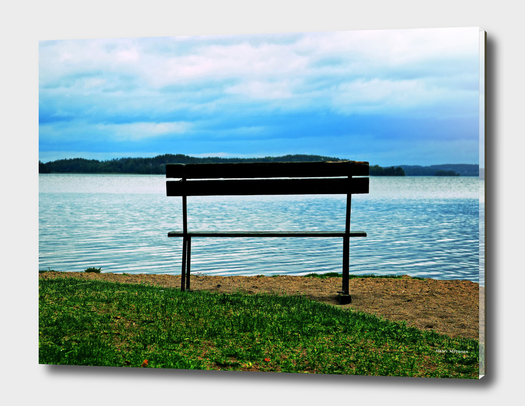 Bench by the lake  7