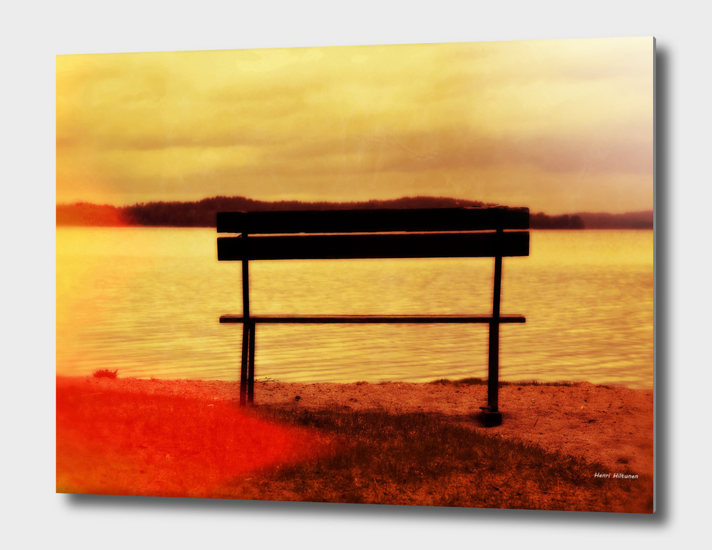 Bench by the lake 8