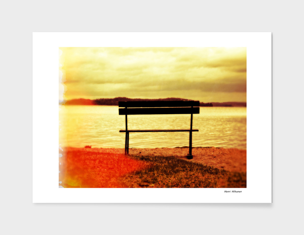 Bench by the lake 12