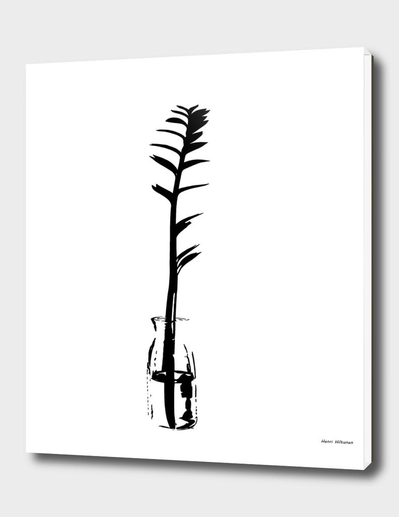 Branch in vase