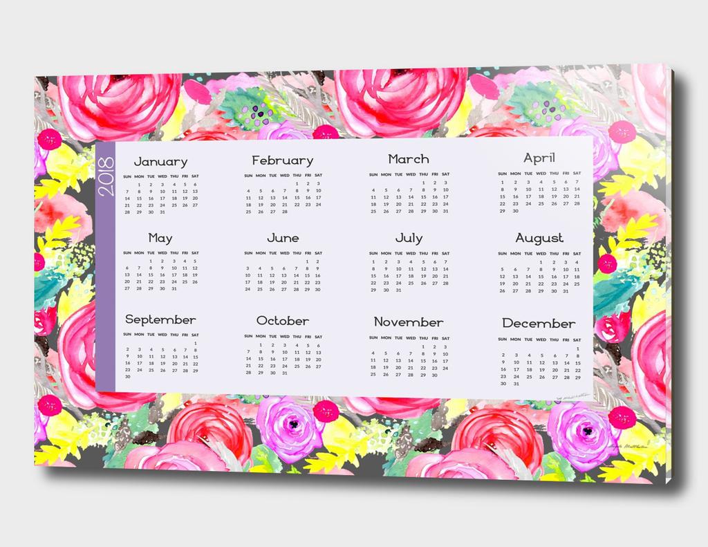 Horizontal 2018 Calendar 2 17x11