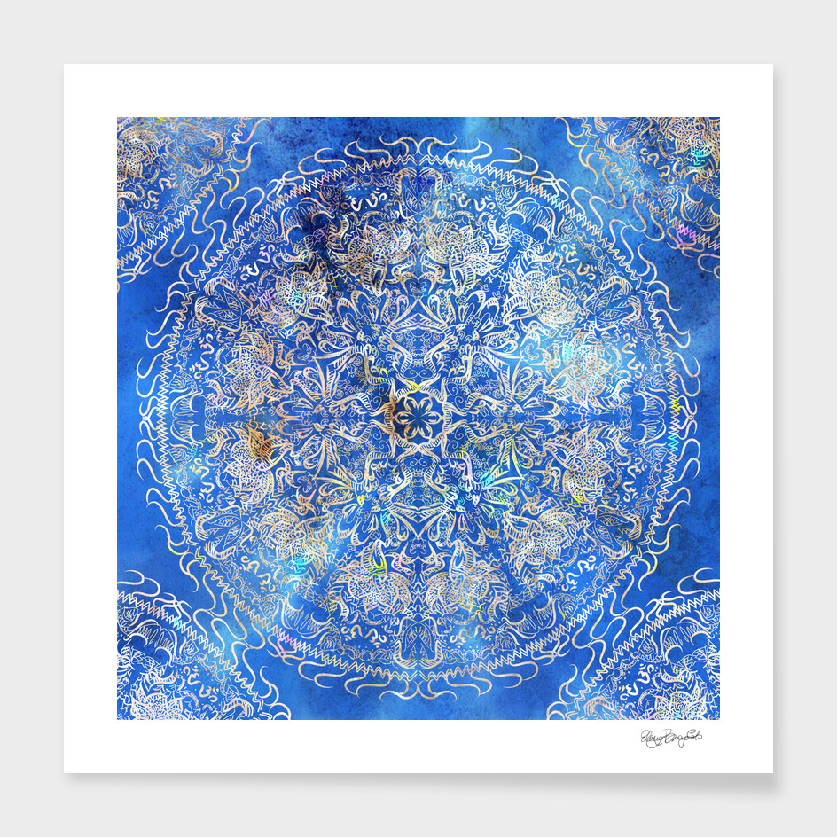 Mandala Gold Blue