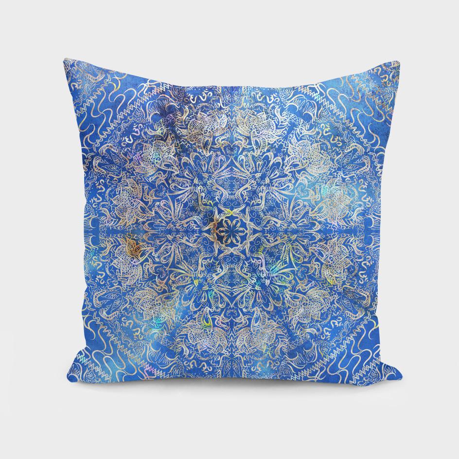 Mandala Gold Blue