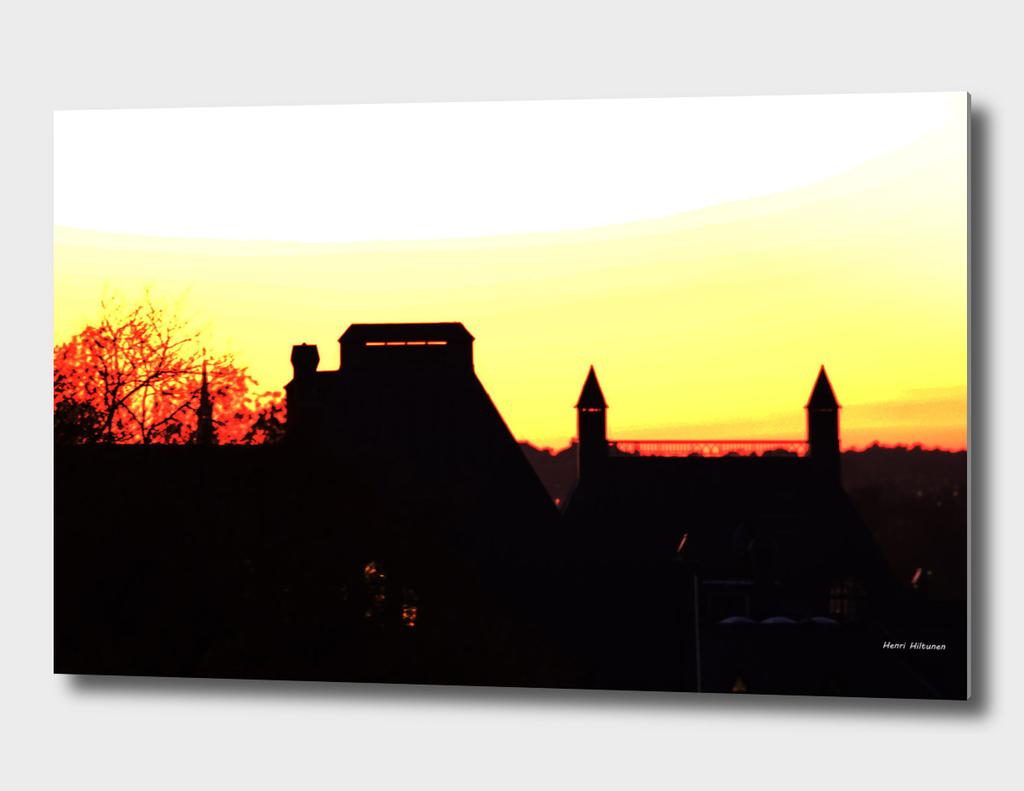 Sunset Södermalm  stockholm 1