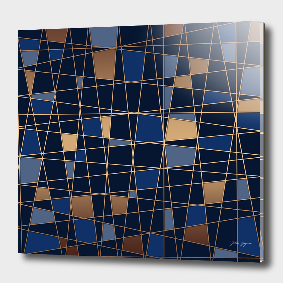 Abstract blue geometric pattern