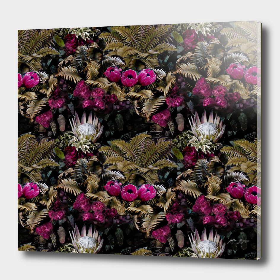 Tropical seamless floral jungle pattern