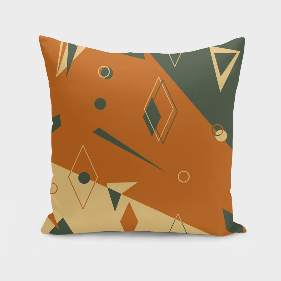Brown gray geometric pattern