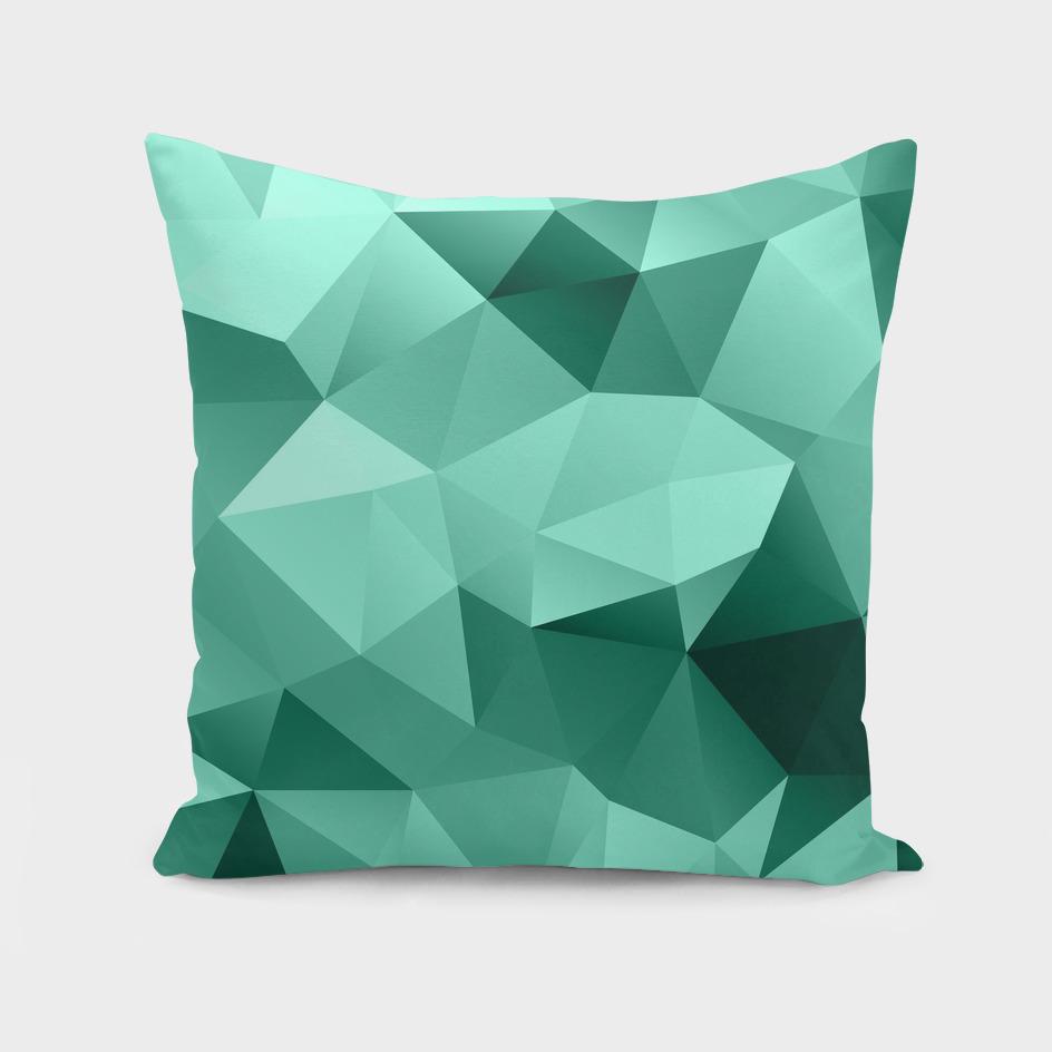 Turquoise polygonal pattern
