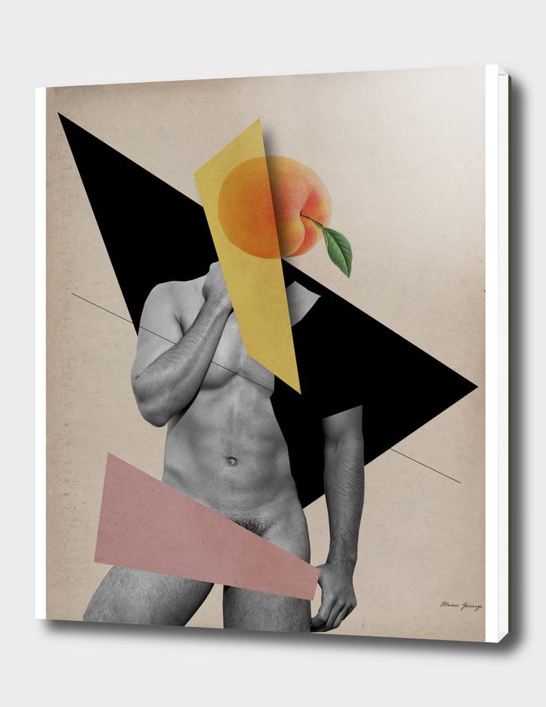 male body and peach