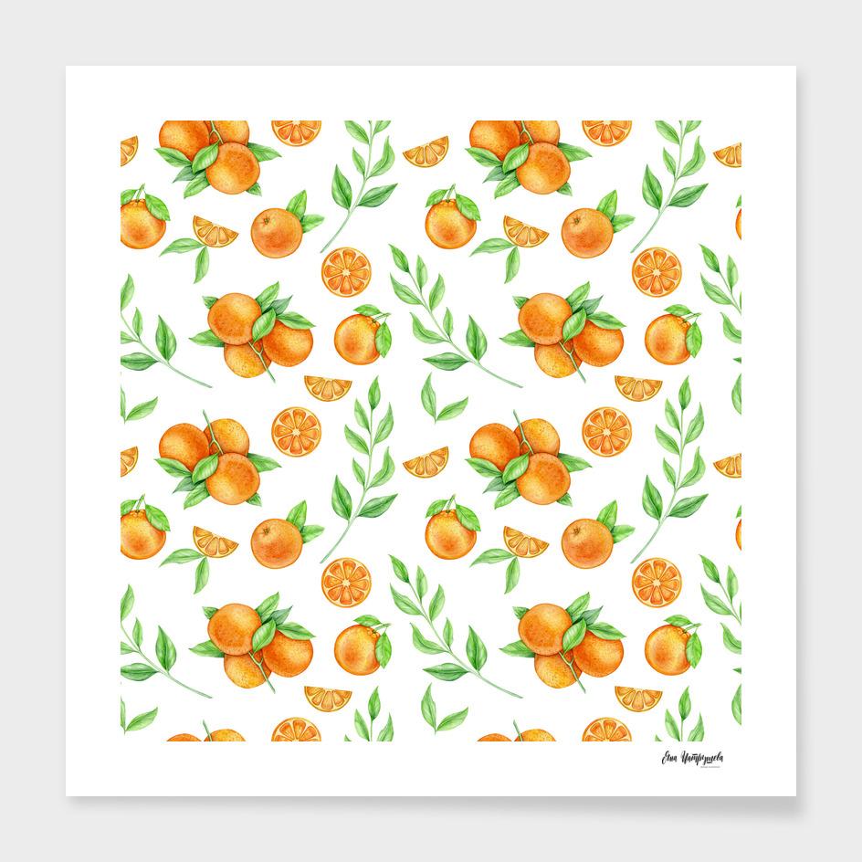 watercolor oranges