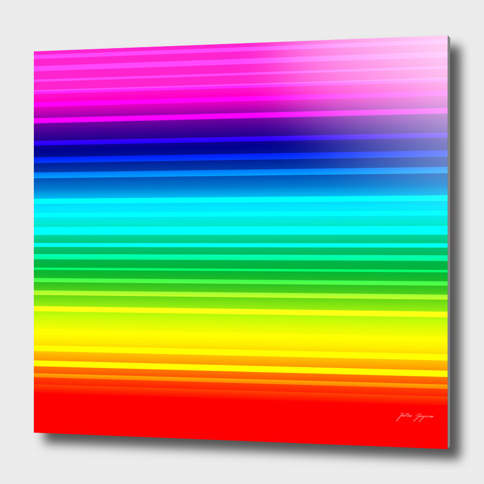 Striped lined rainbow multicolor print