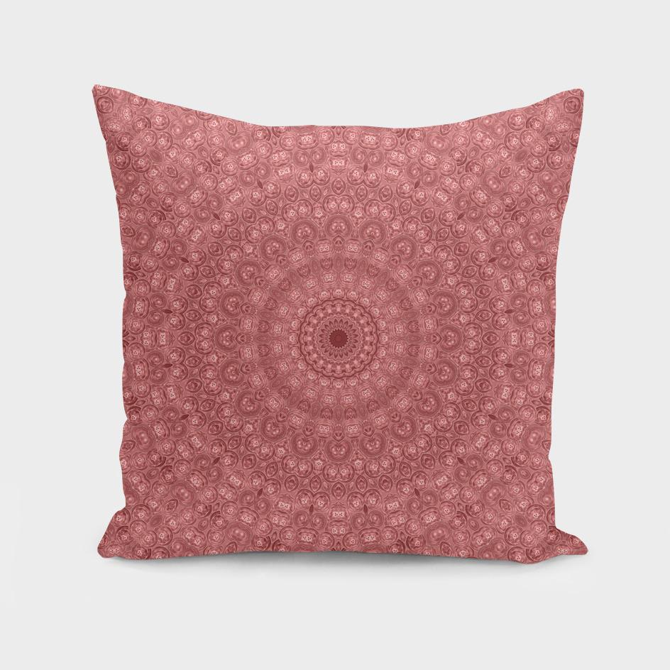 Mandala traditional pink circle ornament print