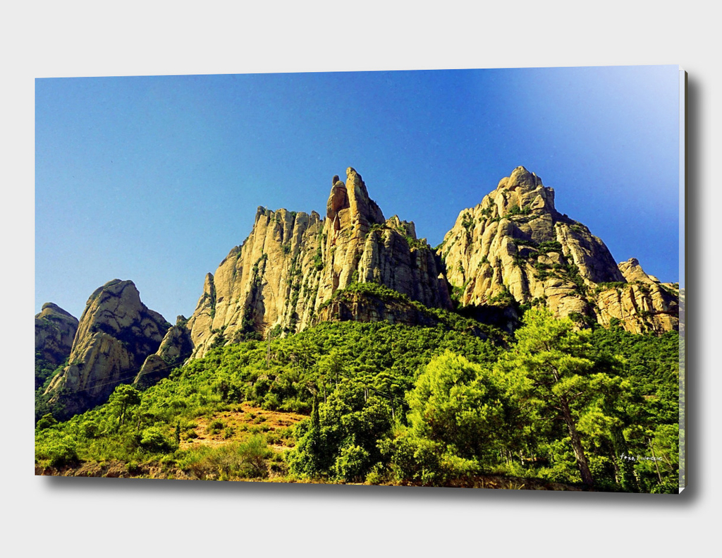 Mountains at Montserrat Island