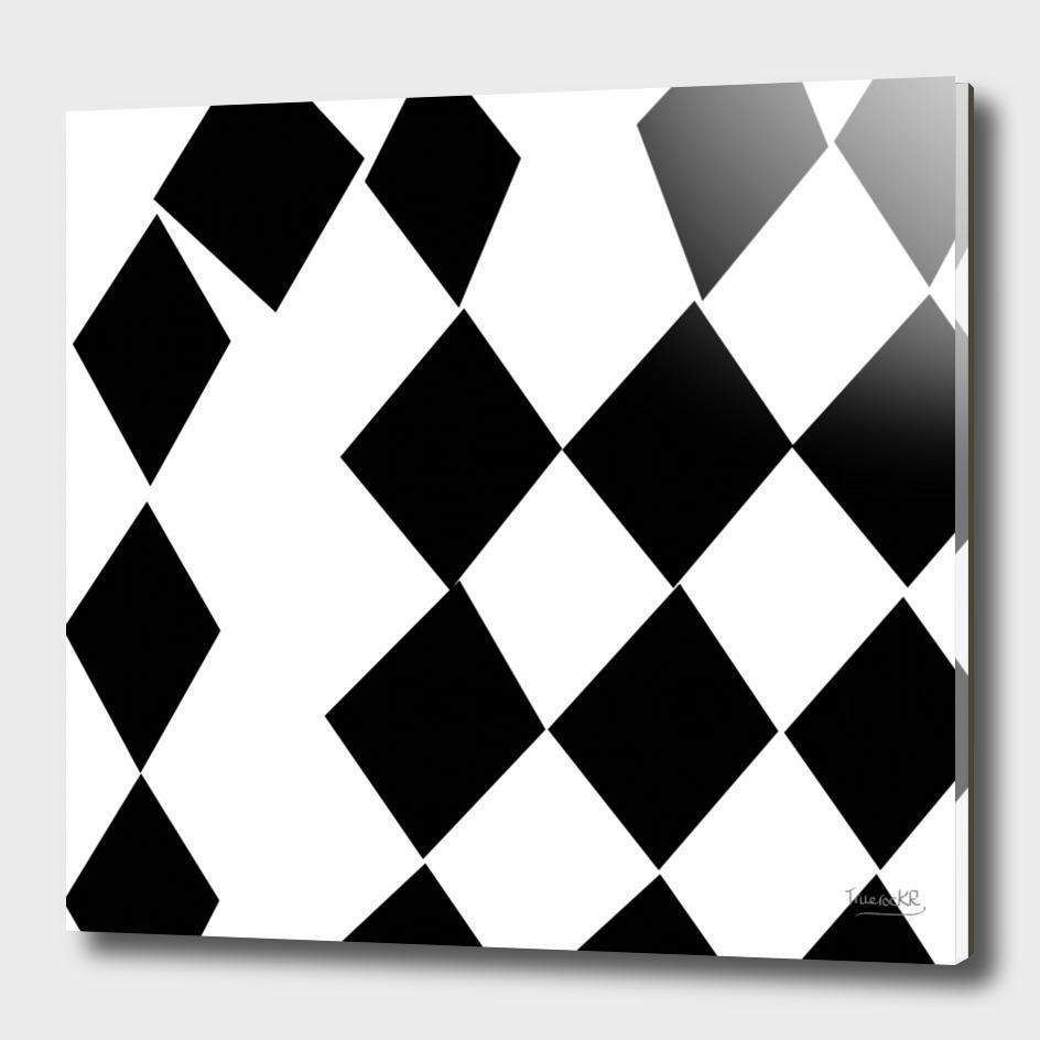 Black and White Harlequin