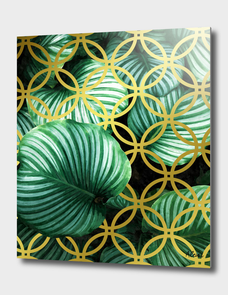 Leaves Geometric Modern Illustration
