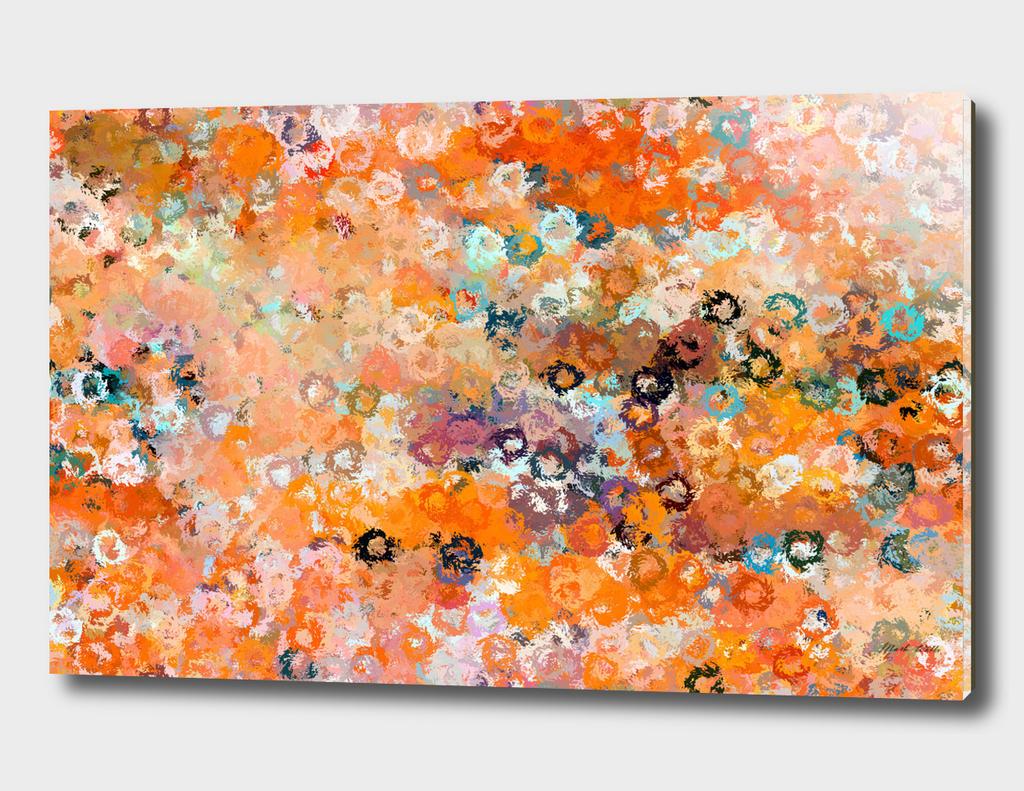 Blotchy Autumn Watercolour Pattern