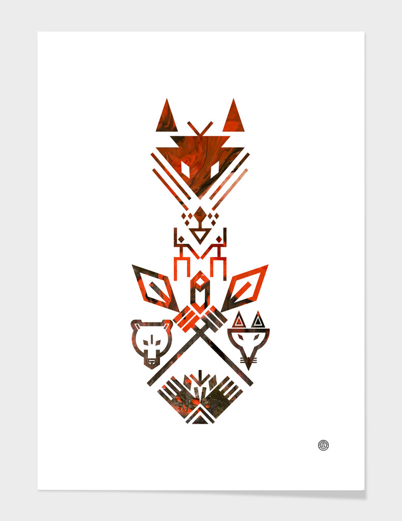 Tribal Sign Animals Wolf Bear Fox