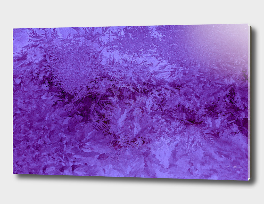 Abstraction Photography Frost Texture Violet Color