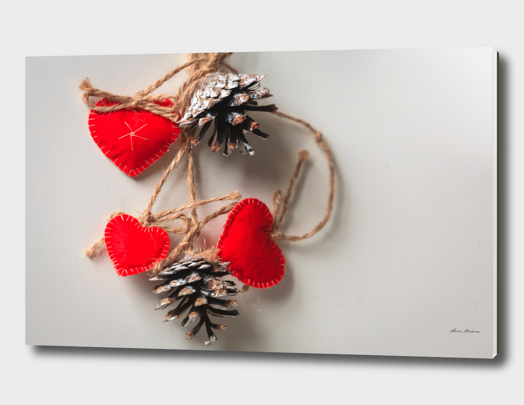 Hearts Red Decoration Copy space