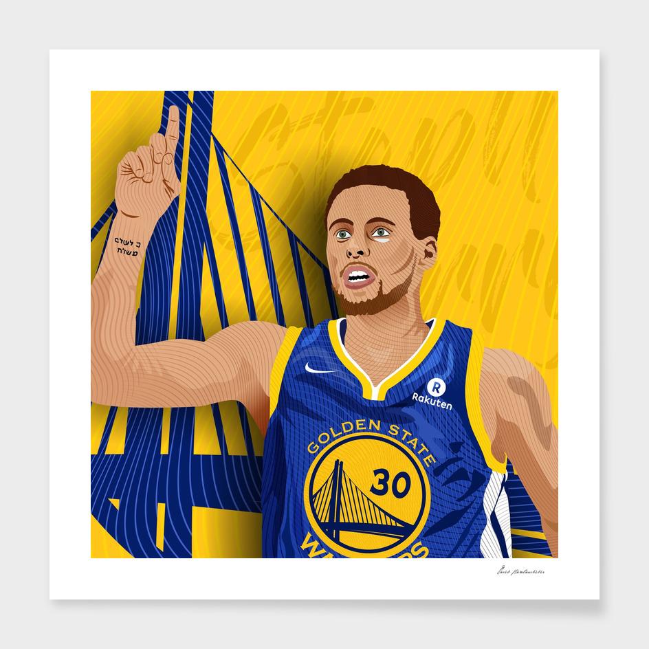 Stephen Curry_NBA_Illustration