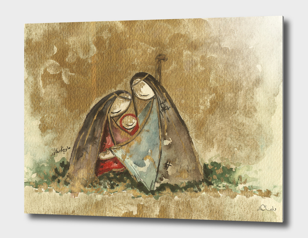 Nativity Watercolor Painting