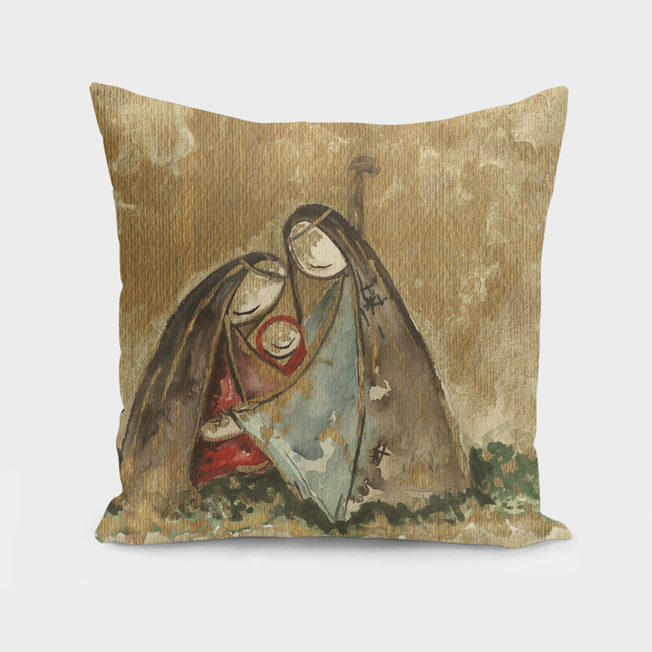 Nativity Watercolor Painting
