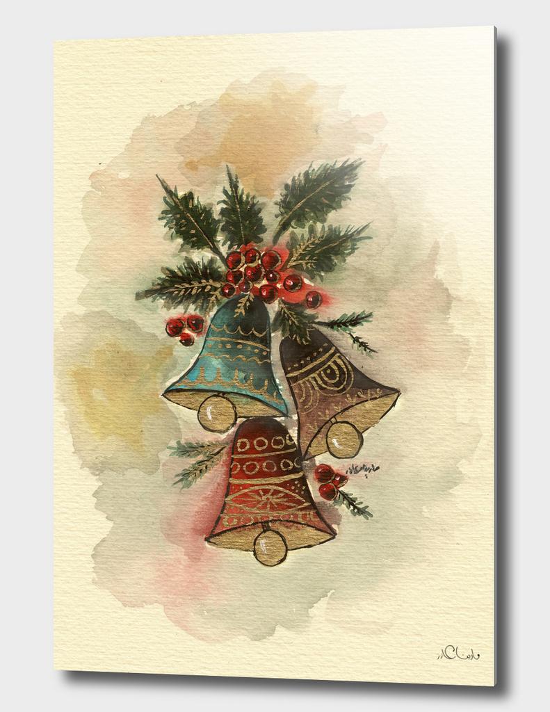 Bells Watercolor Painting