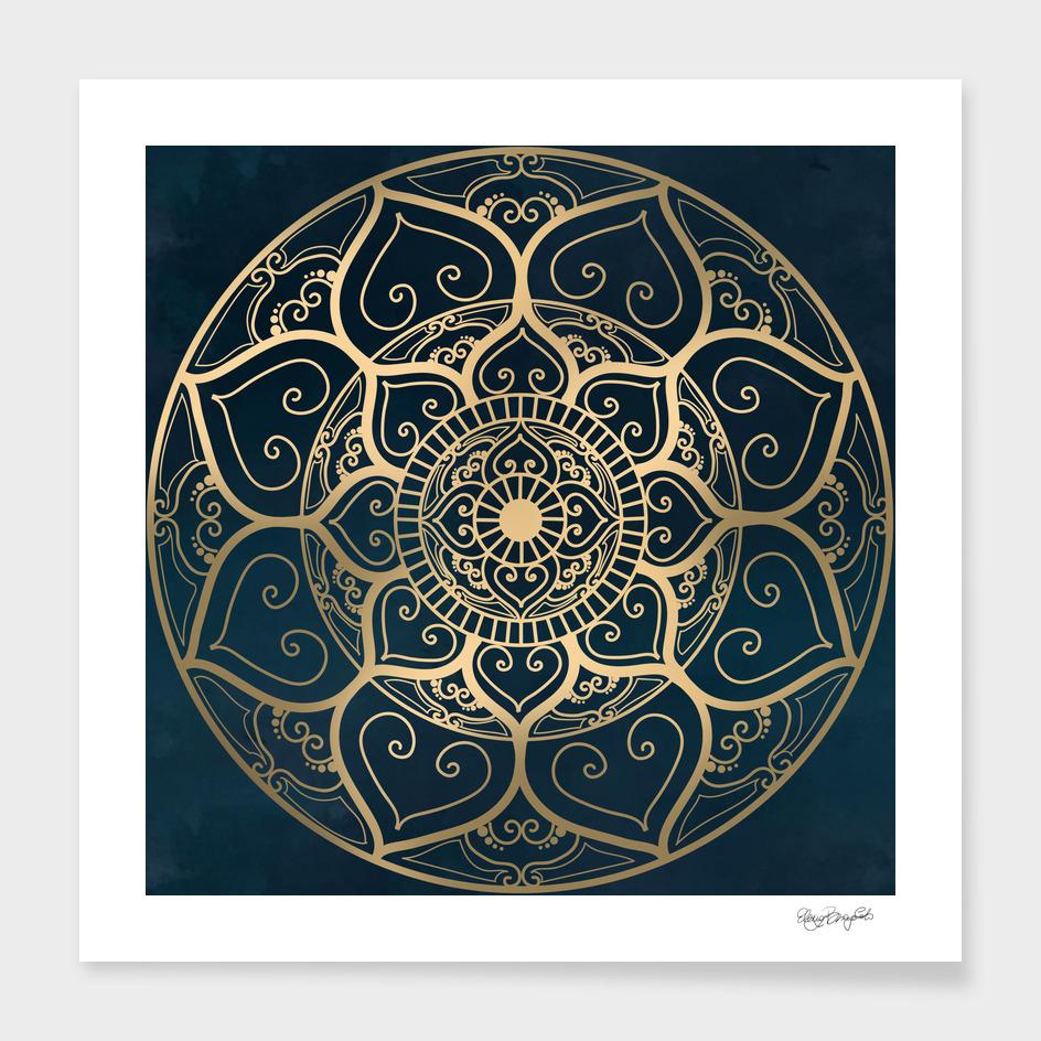 Mandala Night Blue