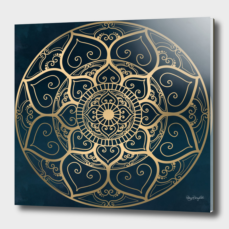 Mandala Night Blue