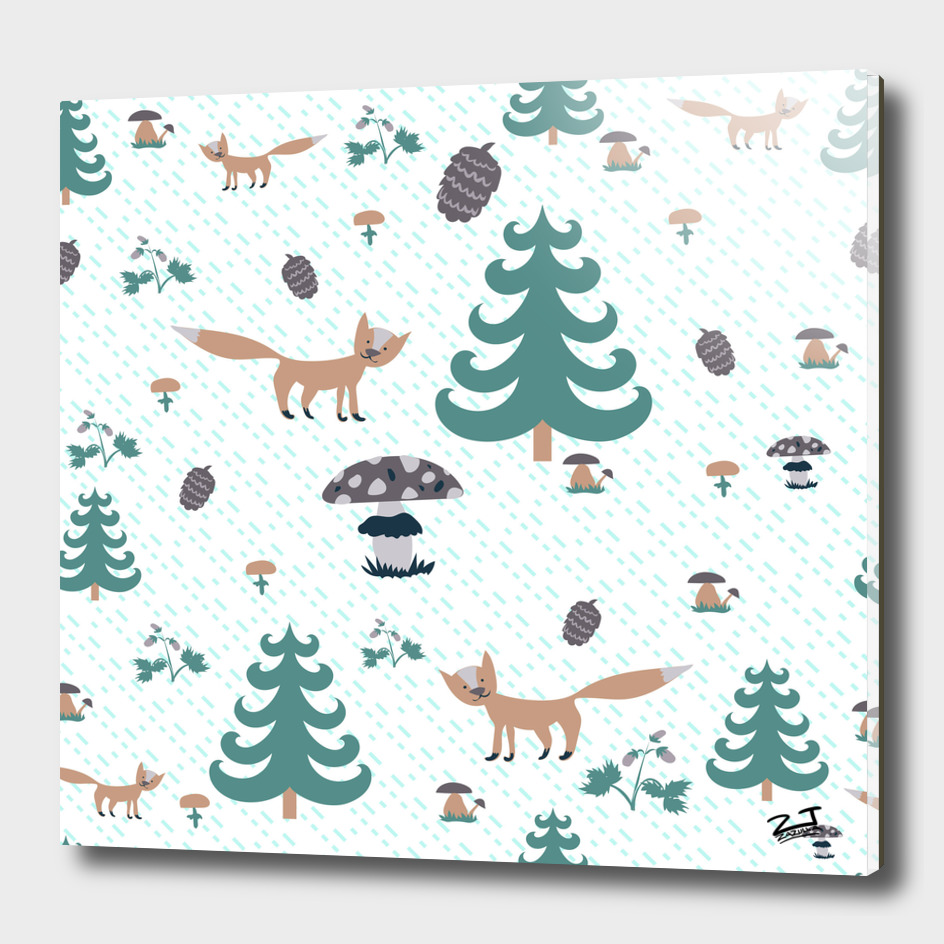Forest pattern for Fotolia