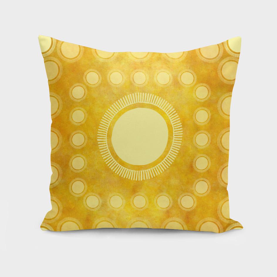 """Gold & Yellow Ethnic Sun (Pattern)"""