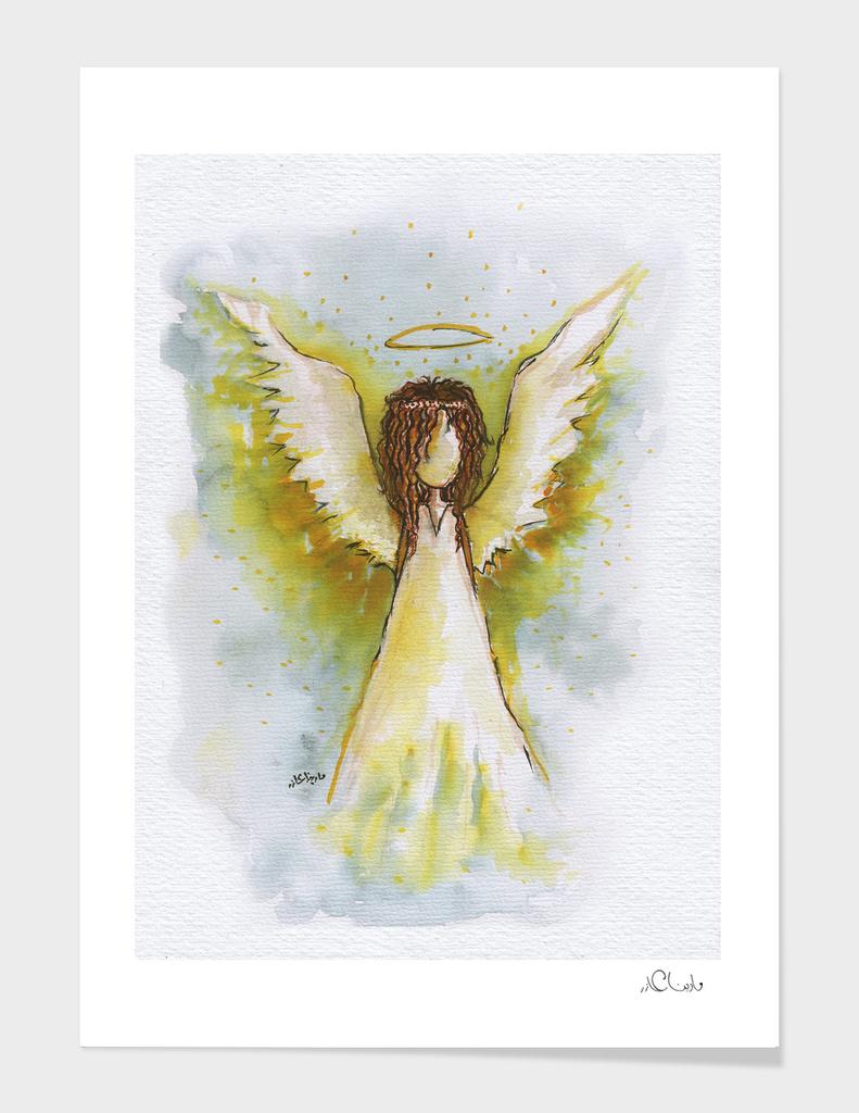 Angel Watercolor Painting