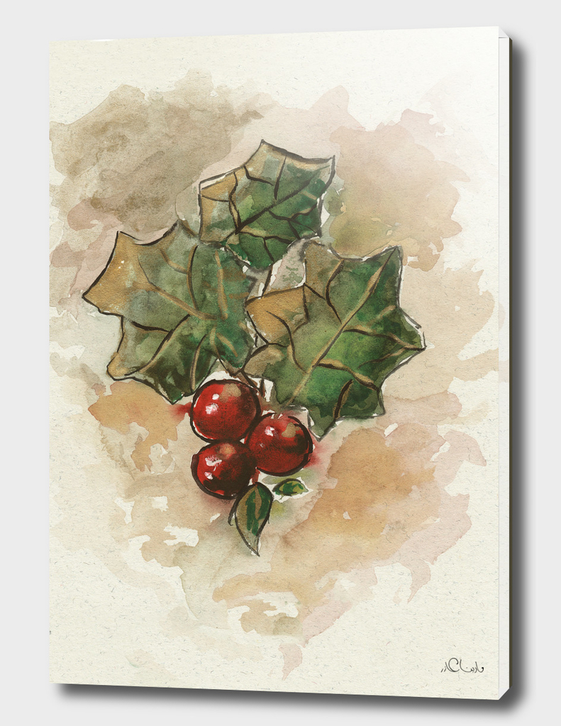 Vines Watercolor Painting