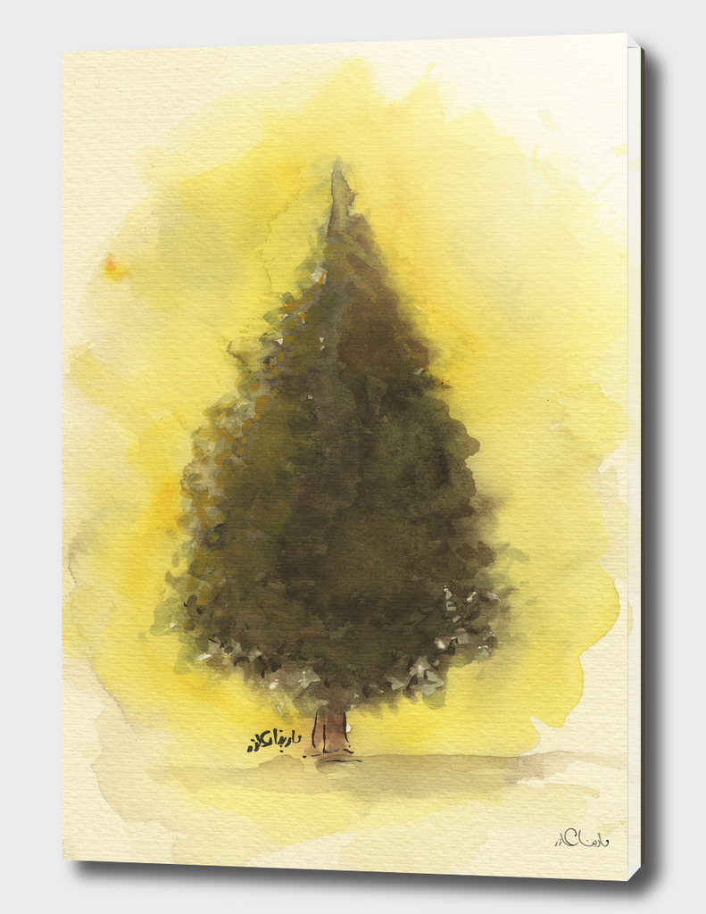 Forest Tree Watercolor Painting