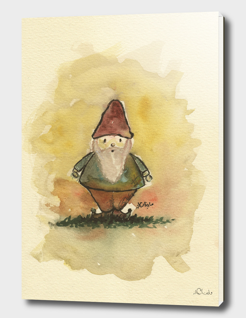 Mini Papa Noel Watercolor Painting