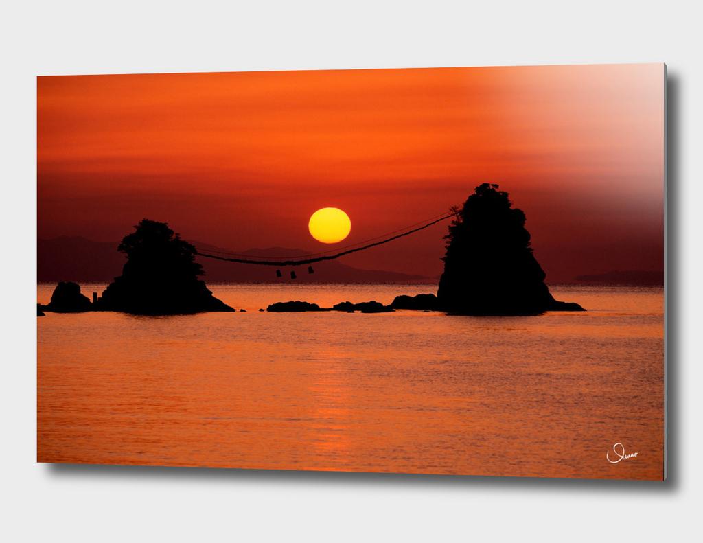 Sunrise of Bungo Futamigaura Japan