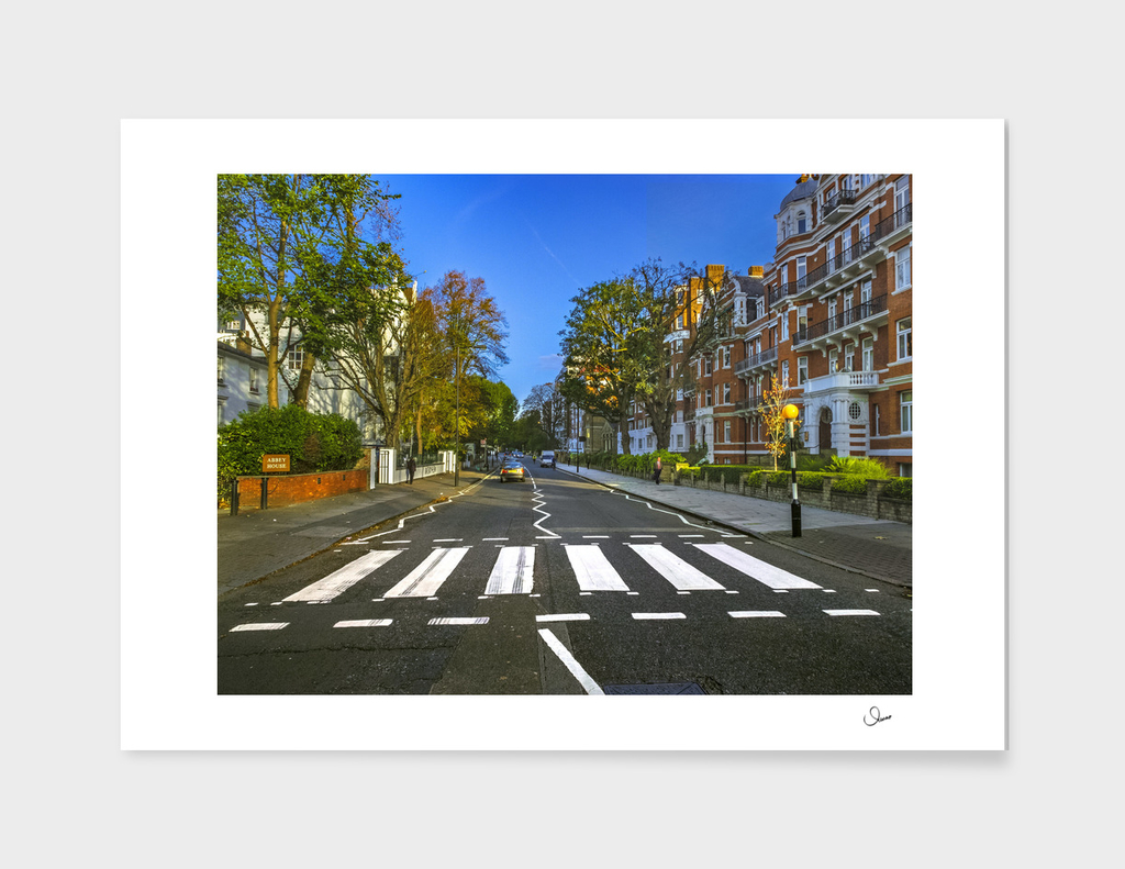Famous crosswalks in Abbey Road