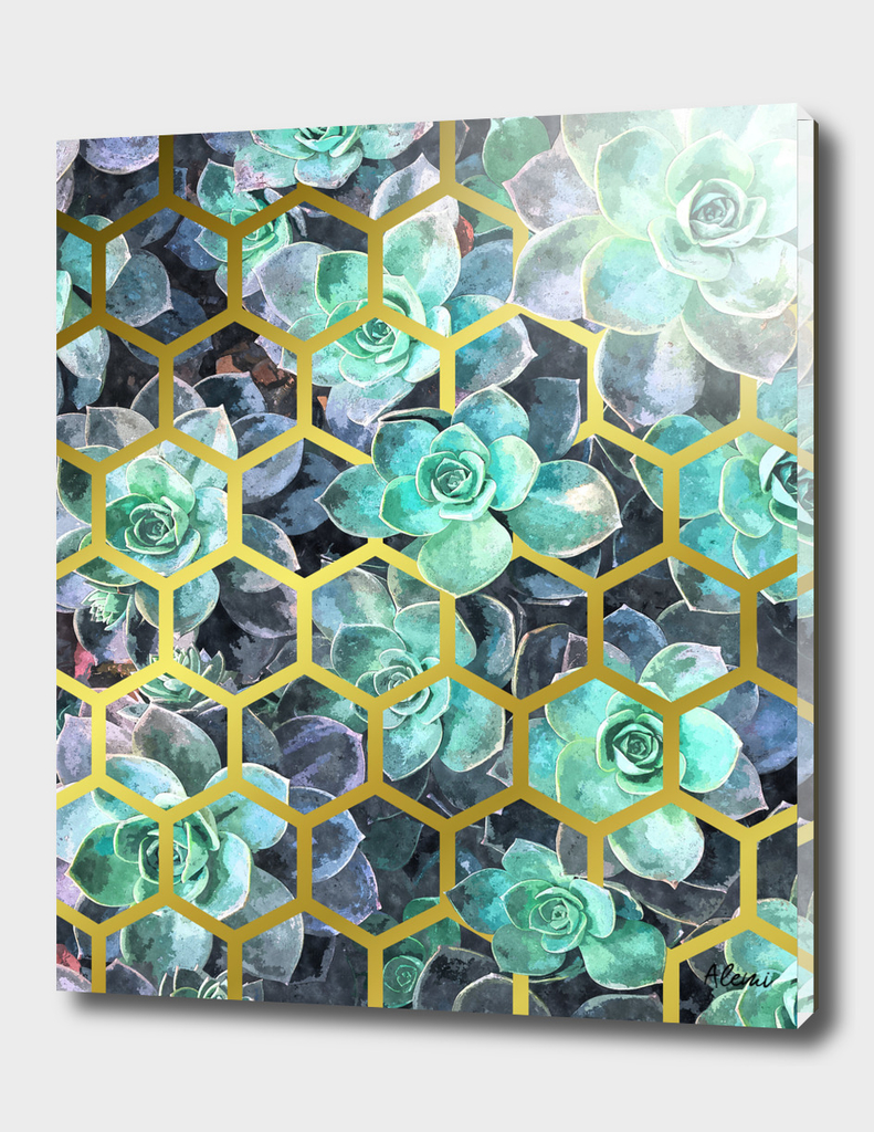 Succulent Geometric Modern Illustration