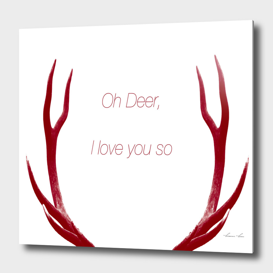 oh deer I love you so