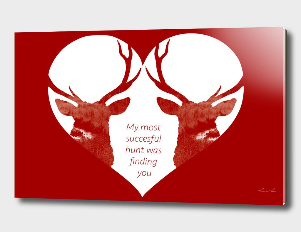 valentine deer heart