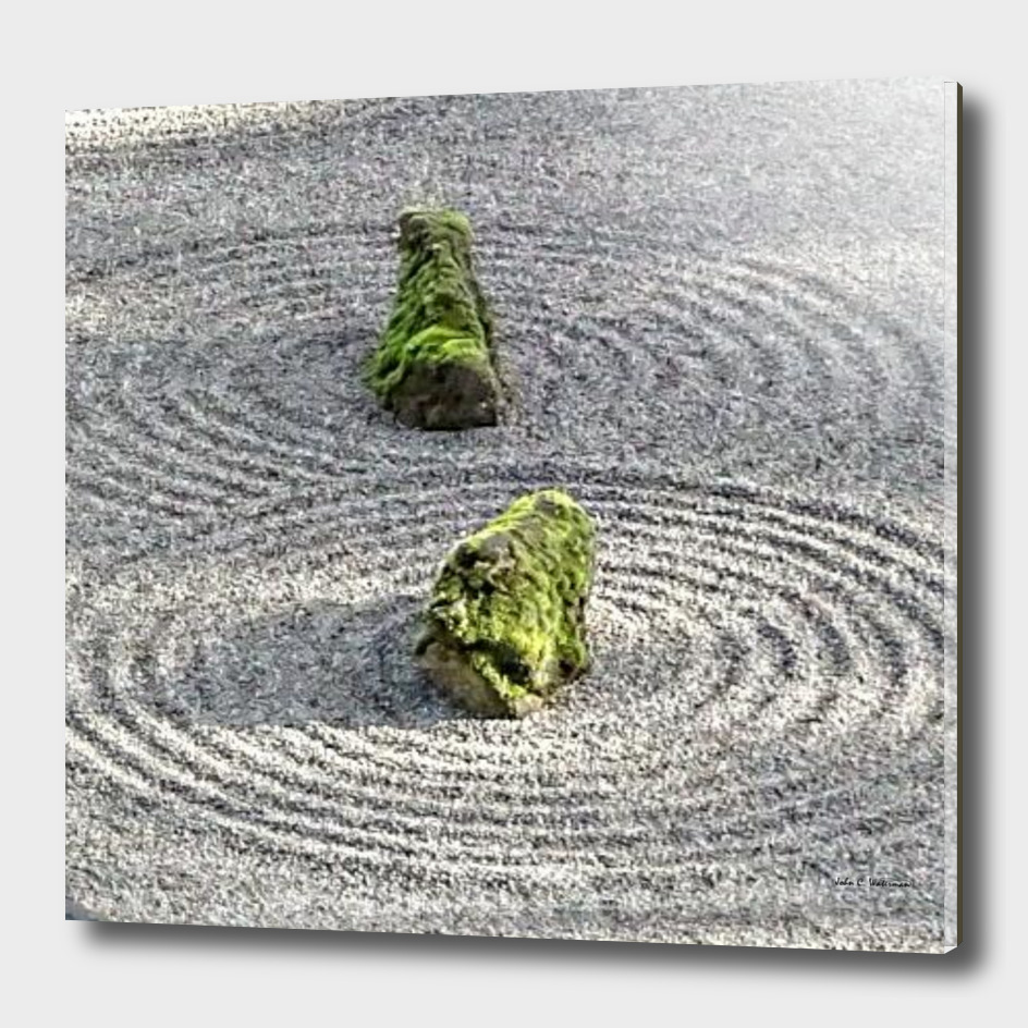 Japanese  Stone and Sand Garden