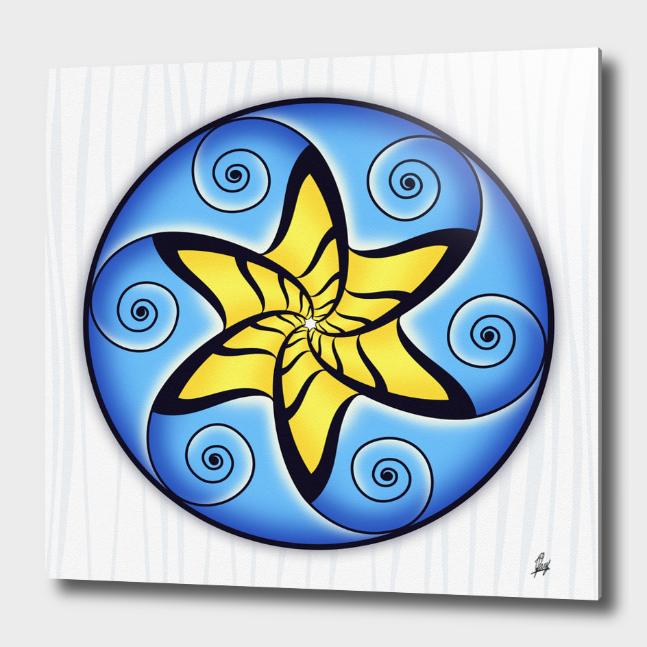 Mandala SPiraled Star