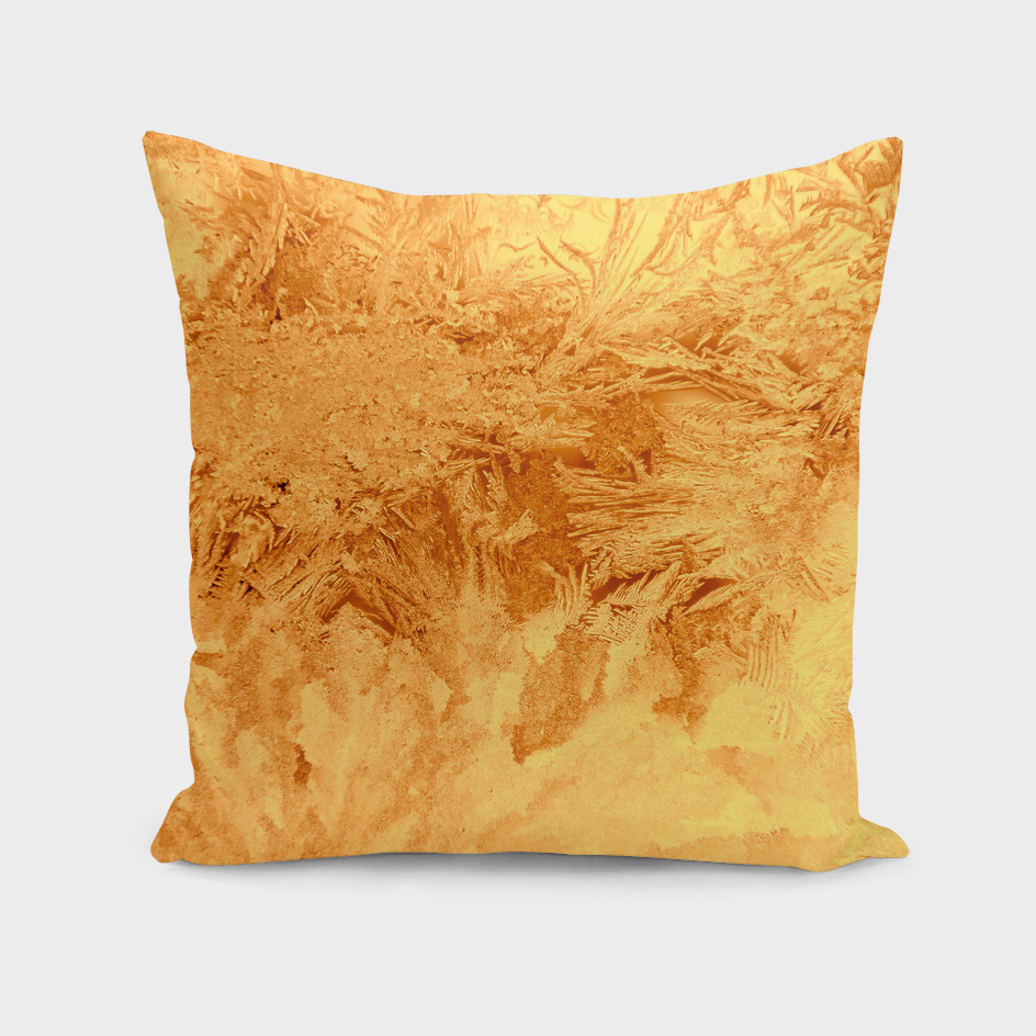 Abstraction Ice Background Pattern Gold