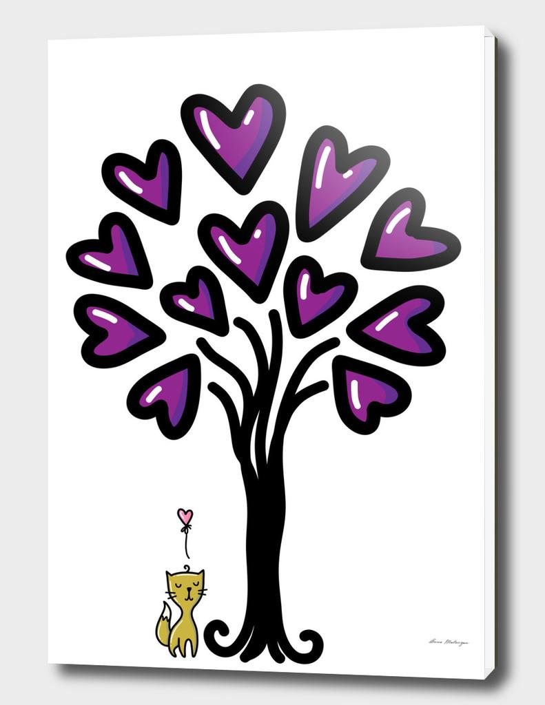 Cat in love, sketchy doodles