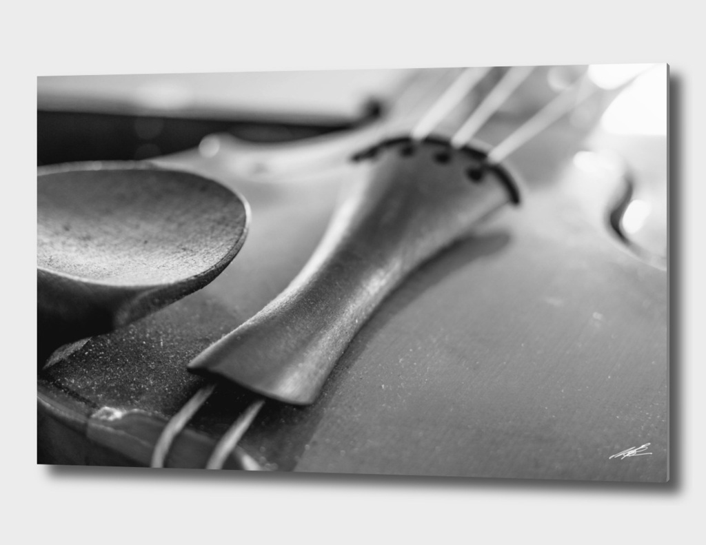 Simple violin, Black & White